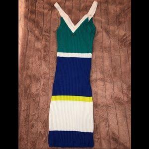 bebe stretchy midi dress